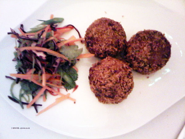 Beef brisket croquettes with Asian slaw at Nopi