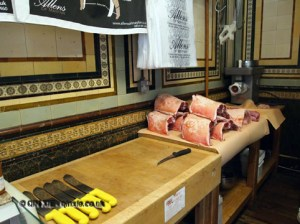 Butcher's table at Allens of Mayfair