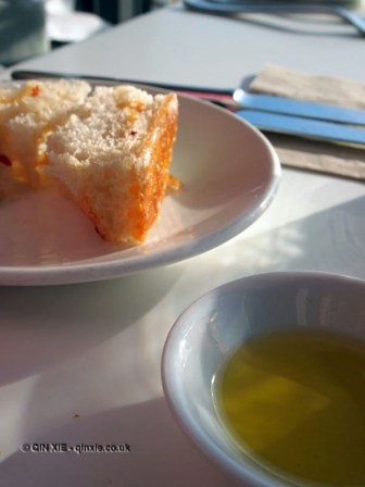 Da Baras Bakery bread and oil at Fifteen, Cornwall
