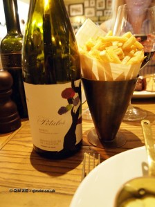 Petalos Bierza with fries at Bistro du Vin, Soho