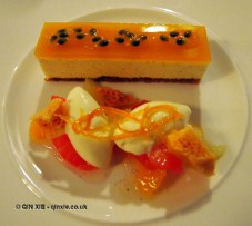 Passion fruit cheesecake at The Elephant Restaurant, Torquay