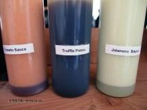 Table sauces at Kirin Ichiban Yatai