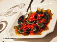 Thousand year old eggs at Empress of Sichuan