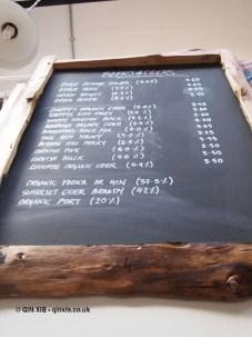 Beer and cider list at River Cottage Axminster