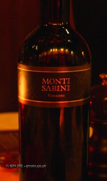 Monti Sabini red wine at Christmas Celebration Menu preview at Malmaison, London