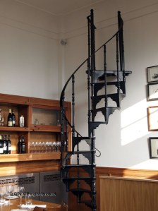 Winding stairwell at The Corner Room