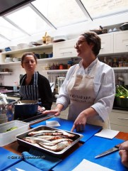 Ann Colquhoun with sardines at Fish in a Day, Food Safari