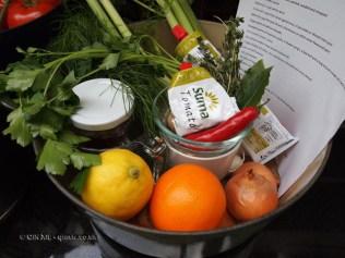 Bouillabaisse ingredients at Fish in a Day, Food Safari