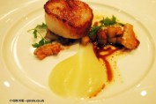 Scallop with pork and apple at The Lawn Bistro