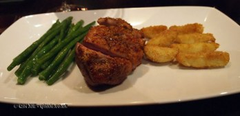 Duck breast with French beans and frangipane potatoes at Dego, London
