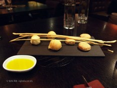 Grissini and bread at Dego, London