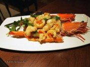 Jumble prawns stir-fried with vegetables at Chinese Cricket Club