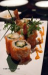 Salmon roe sushi, sushi making at Ichi Sushi and Sashimi Bar