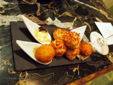 Canapés at thirty six by Nigel Mendham, Dukes Hotel