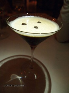 Espresso martini at Apsley's, The Lanesborough Hotel