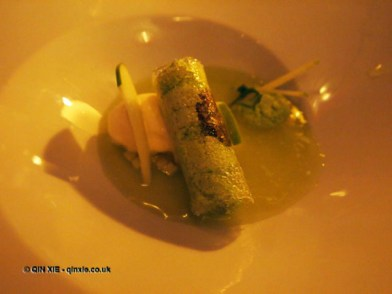 Apple soup, Mauro Colagreco and Nuno Mendes at Viajante