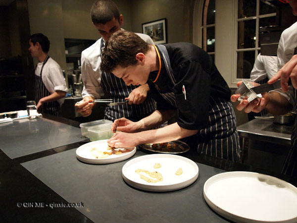 Mauro Colagreco and Nuno Mendes at Viajante, Bethnal Green, chef showcase dinner