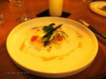 Green asparagus salad, Mauro Colagreco and Nuno Mendes at Viajante