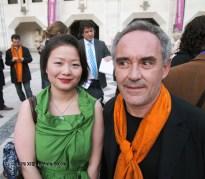 Qin Xie with Ferran Adria at the World's 50 Best Restaurants 2012