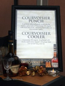Courvoisier cocktail menu, British night, Global Feast 2012