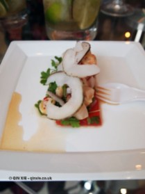 Prawn, snapper and confit watermelon, Ceviche by Asia de Cuba