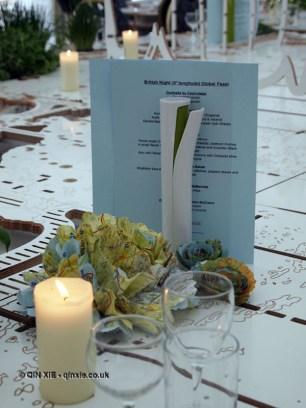 Table setting, British night, Global Feast 2012