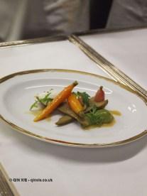 Vegetable sides, 25th Anniversary Celebration Menu at Alain Ducasse's Le Louis XV in Monte Carlo, Monaco
