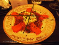 Salmon sashimi South American Way, Luiz Hara, London Foodie Japanese Supperclub with Bordeaux Wine