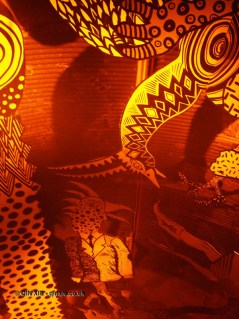 Ceiling animals, Wahaca's Day of the Dead