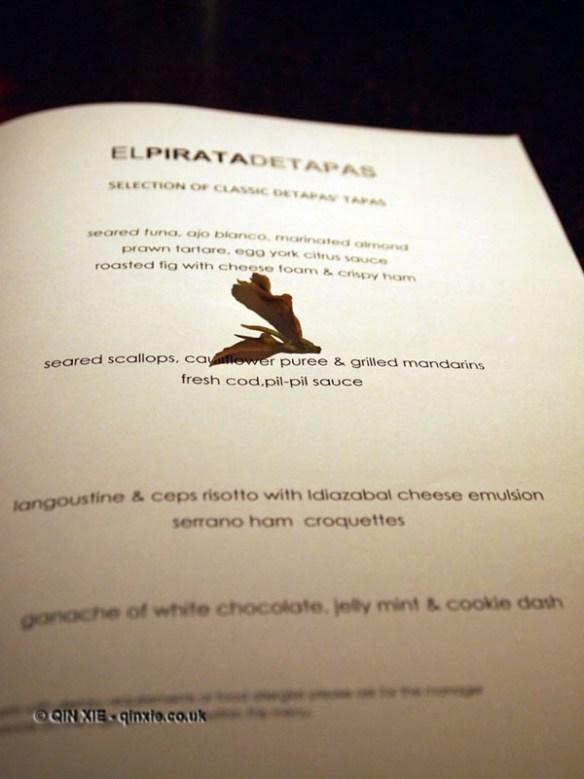 Lalani&co and tapas at El Pirata Detapas, Notting Hill