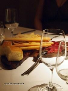 Bread and bresaola. Nino Franco at Babbo, Mayfair