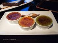 Trio of crème brûlée, Buddha Bar, London