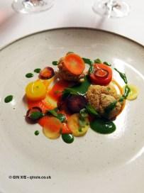 Lamb – sweetbread, carrots, mint sauce, Bubbledogs Kitchen Table, Fitzrovia