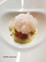 Mackerel – tartare, apple, celery, Balfour Rose granita, Bubbledogs Kitchen Table, Fitzrovia