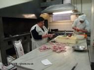 Chef prepping monkfish, Ristorante Beccaceci, Abruzzo