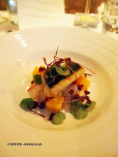 Grilled mackerel with a fine potato salad, smoked eel and golden beetroot, Sonny's Kitchen, Barnes