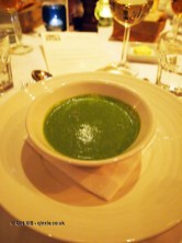 Wild garlic soup, Sonny's Kitchen, Barnes