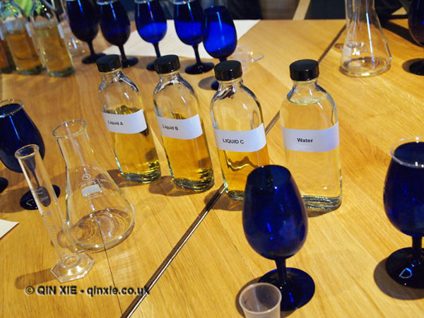 Blending experiment, Talisker, Isle of Skye
