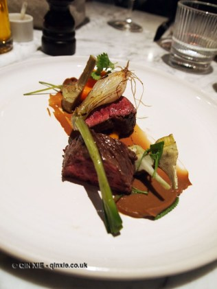 Fillet of beef with artichoke and spring onion, Graanmarkt 13, Antwerp, Belgium