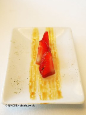 Marinated strawberries, Arzak, San Sebastian