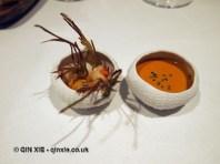 Lobster, sea urchin and artichokes, Azurmendi, Vizcaya