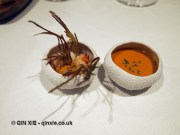 Lobster, sea urchin and artichokes, Azurmendi, Vizcaya
