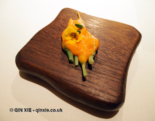 Carrots and their smeared flowers, Mugaritz, Errenteria