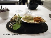 Oyster, mayonnaise and natural aroma from the sea, Azurmendi, Vizcaya