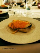 Roasted cod with Jerusalem artichoke, parsnips and beetroot, Château de Lastours, Portel-des-Corbières