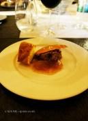 Foie gras with brioche and fig jam, Château de Lastours, Portel-des-Corbières