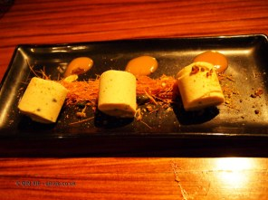 Buffalo milk kulfi with dum cooked vermicelli nest, NYE 2013, Cinnamon Kitchen