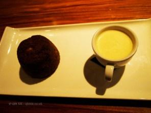 Garam masala pudding with nutmeg custard, NYE 2013, Cinnamon Kitchen