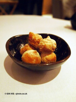Mini cheese gougeres at Hibiscus