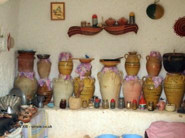 Traditional kitchen in Matmata, Tunisia